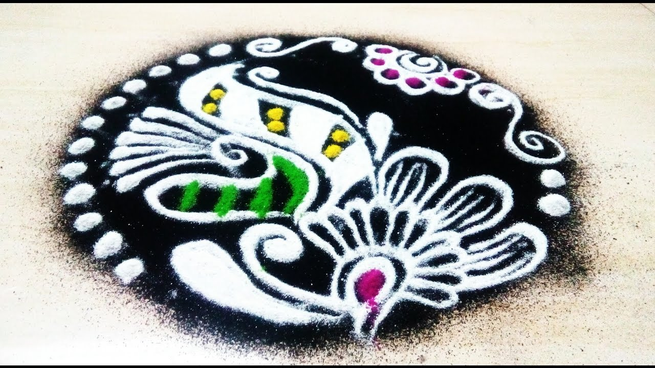 New black white rangoli by artmagic