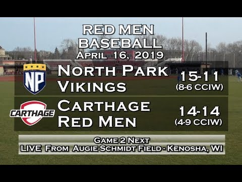 Carthage Baseball Vs. North Park Game 2 2019_4_16