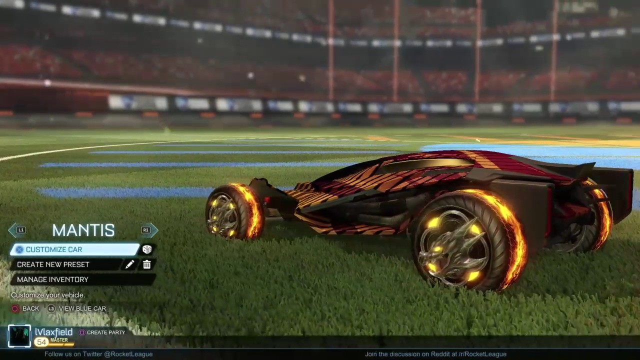 Best Looking Car In Rocket League 20xx Draco Mantis Youtube