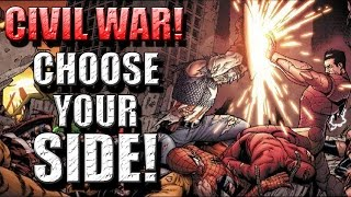 CIVIL WAR! Which side will Avengers choose?