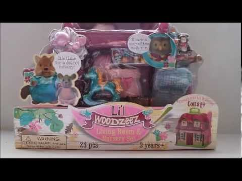 Lil Woodzeez Living Room And Nursery Set Opening