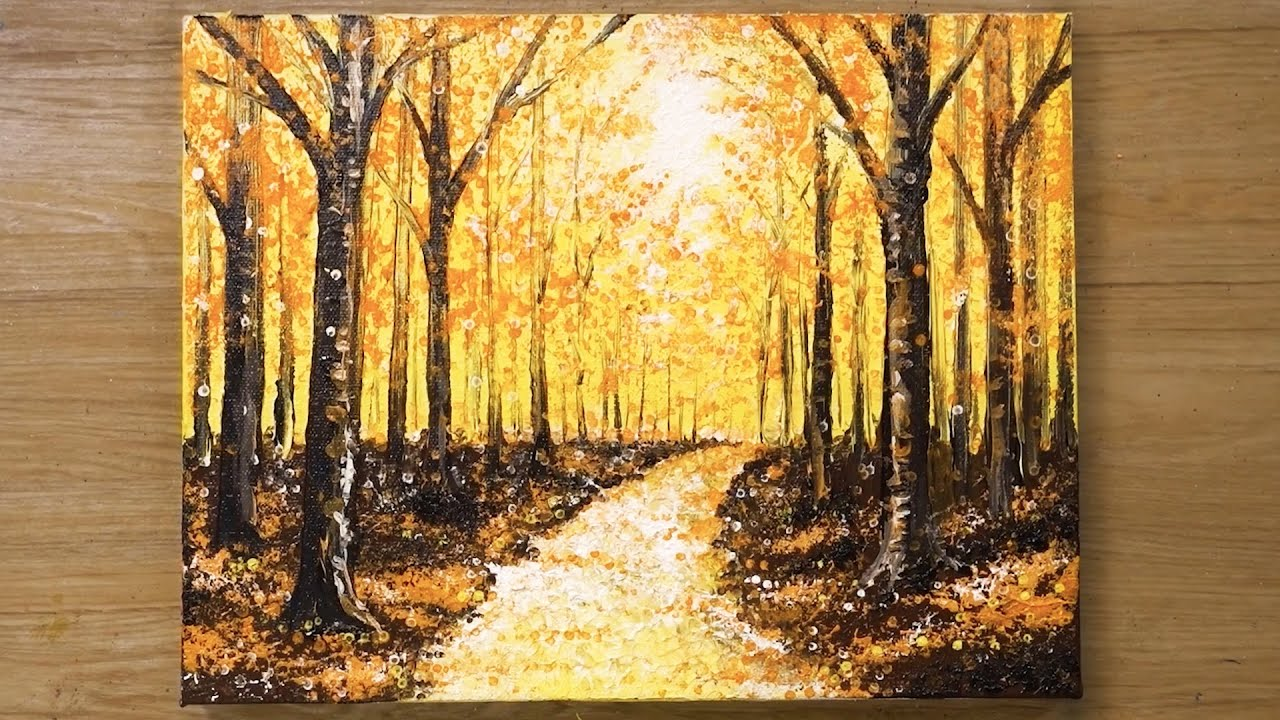 Download How to paint a Forest in acrylics / Aluminum Painting Technique #461