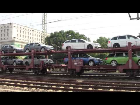 Freight (Cargo) Trains at Dresden Hauptbahnhof, Saxony, Germany - 5th July, 2015