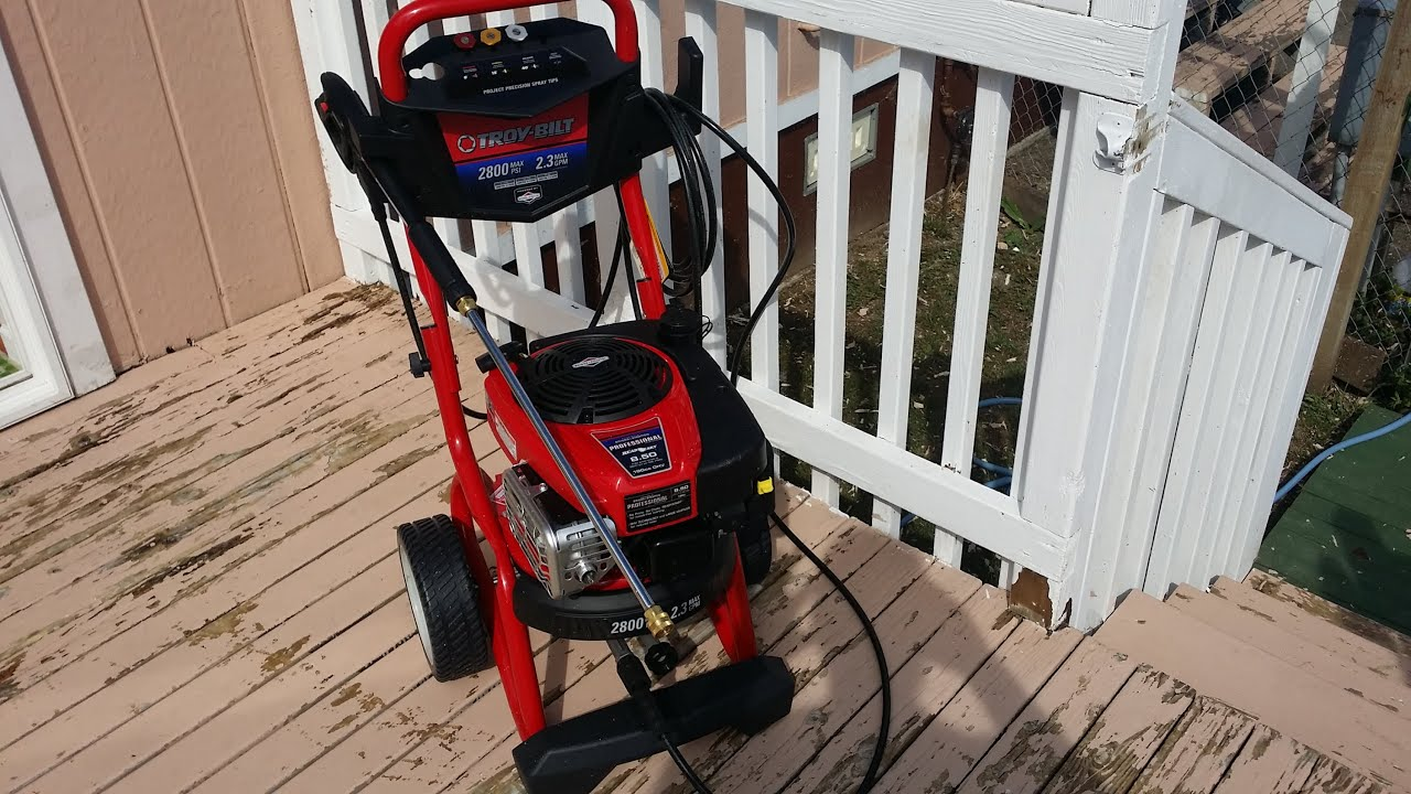 Does a 2800 PSI Troy Bilt Pressure Washer Remove Paint YouTube