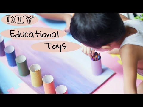 DIY Educational Toys - Sorting Colored Popsicle Sticks