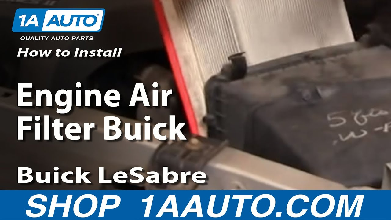 how to install replace engine air filter buick lesabre 00