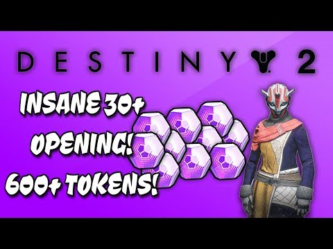 DESTINY 2 - INSANE 30+ OPENING FUTURE WAR CULT FACTION ENGRAMS - OVER 600+ TOKENS!
