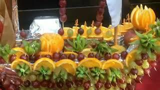 Ресторан Багдад фруктовая композиция.