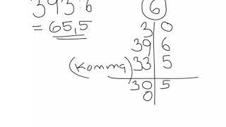 Division uden rest og med decimaltal