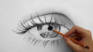 Как нарисовать глаз (How to draw eyes) - ускоренное видео(Рисунок глаза карандашом на бумаге - ускоренное видео от художника Андрея Маркова. На этом видео вы увидите,..., 2015-03-08T15:51:41.000Z)