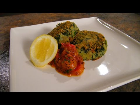 Great  Vegetarian Recipe Spinach and Potato Fritters