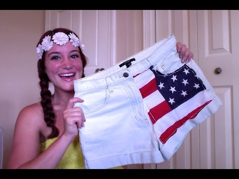 DIY USA FLAG SHORTS