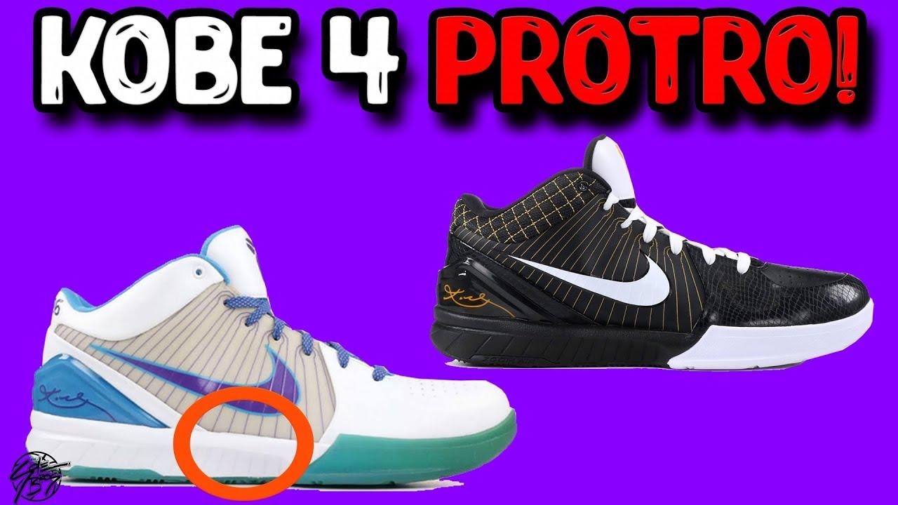 Desgracia Intento Accidental  Nike Kobe 4 Protro! - YouTube
