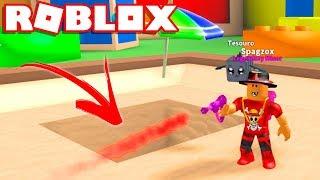 Roblox - TEM ALGO RARO NO FUNDO DA TOY LAND ?? - Roblox Mining Simulator 🎮