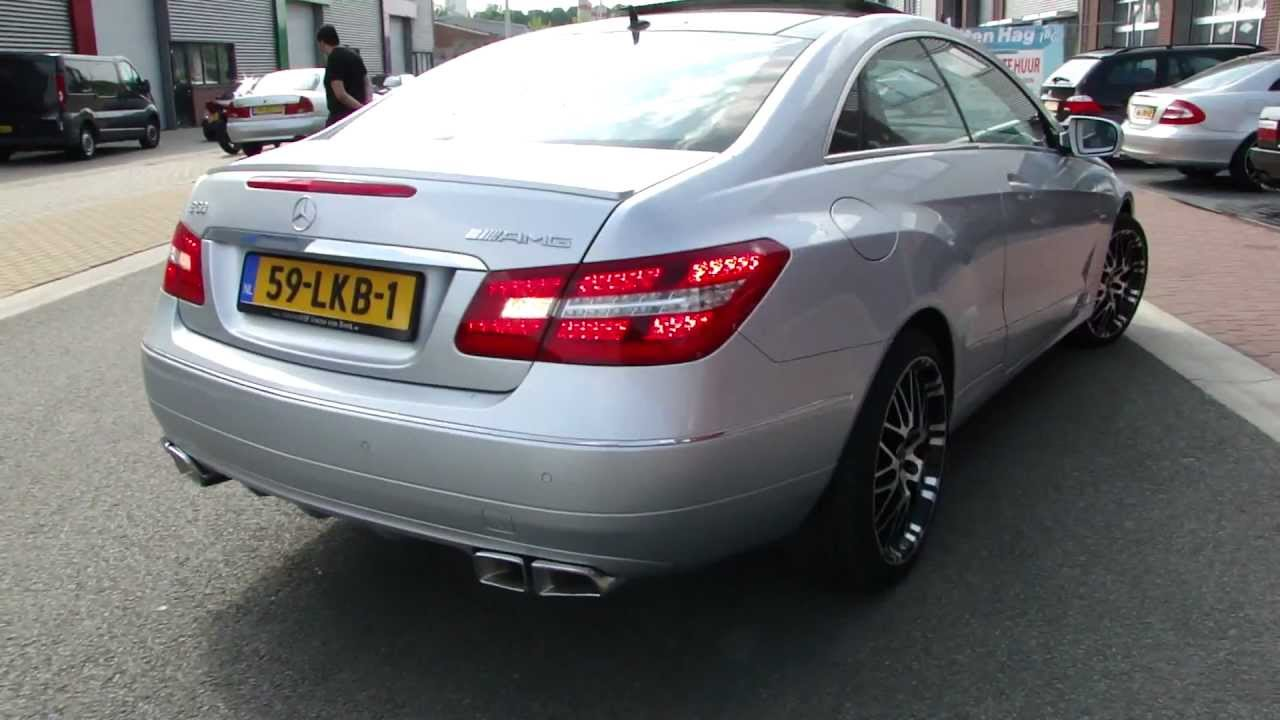 mercedes e350 coupe amg style exhaust great sound by. Black Bedroom Furniture Sets. Home Design Ideas