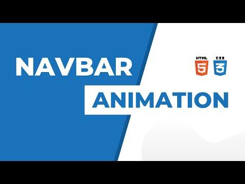 Navbar using html and css | Navbar css tutorial | Navbar css animation thumbnail