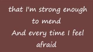 Through the rain with lyrics by Mariah Carey