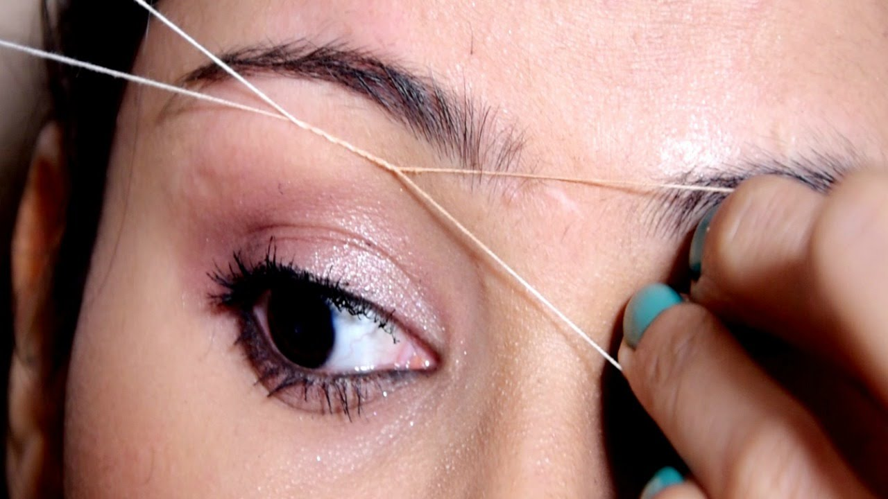Painless Eyebrow Threading Tutorial At Home Useful Tips Super
