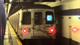 NYC Subway Special: Euclid Avenue-bound R46 (C) Entering & Leaving 2nd Avenue