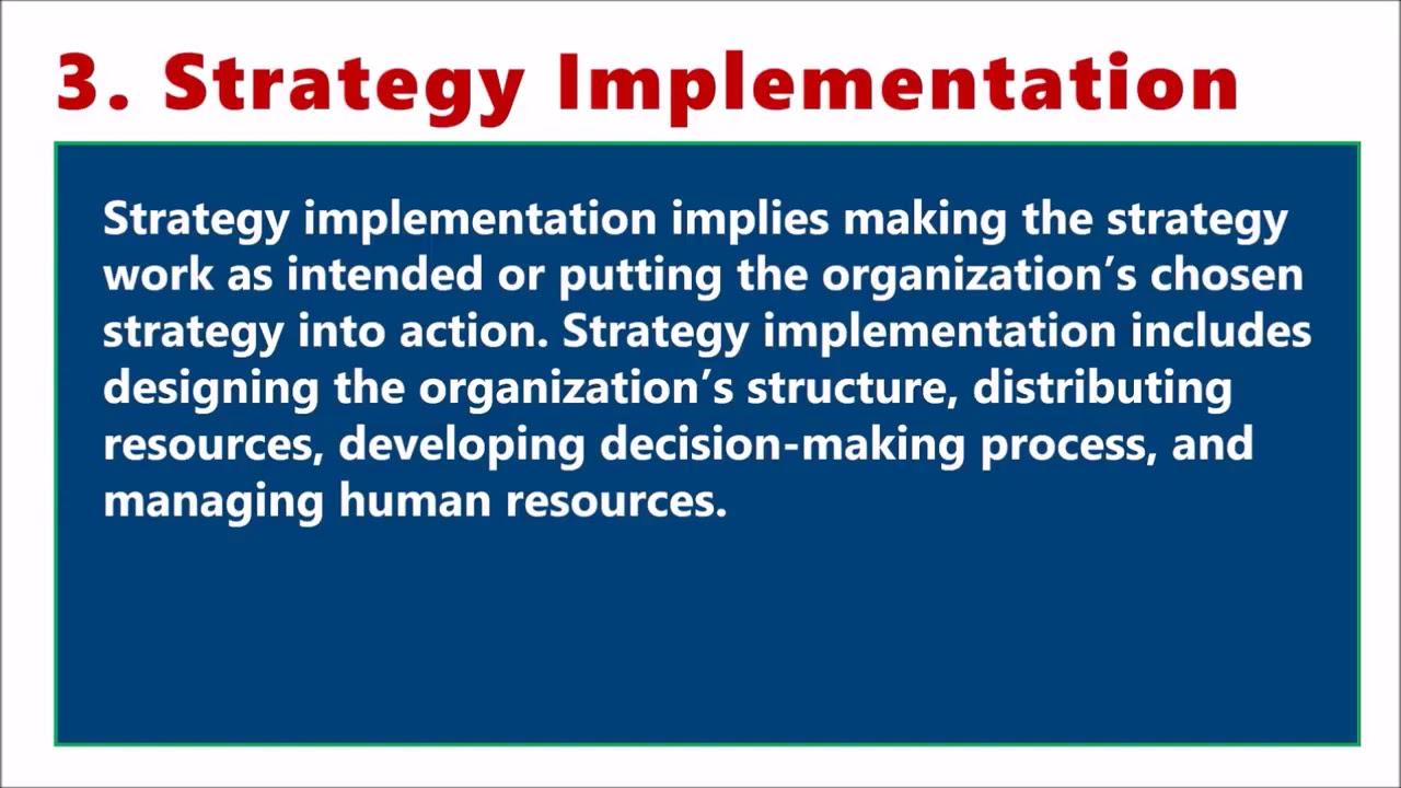 STRATEGIC MANAGEMENT PROCESS IN HINDI Formulation, Implementation &  Evaluation BBA MBA ppt