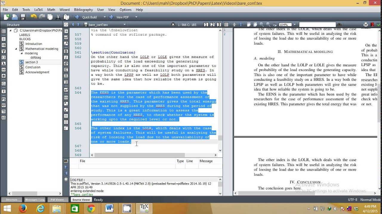 How to write ieee research paper in latex in very easy for Ieee latex template download