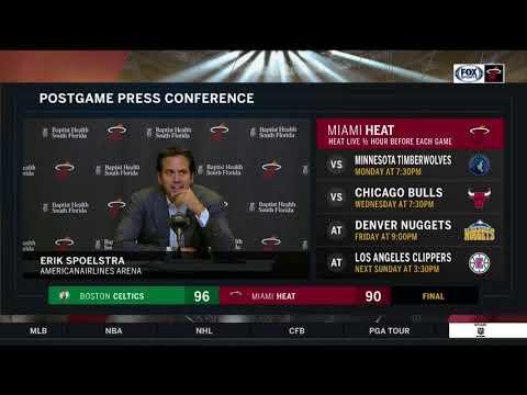 Erik Spoelstra -- Miami Heat vs. Boston Celtics 10/28/2017