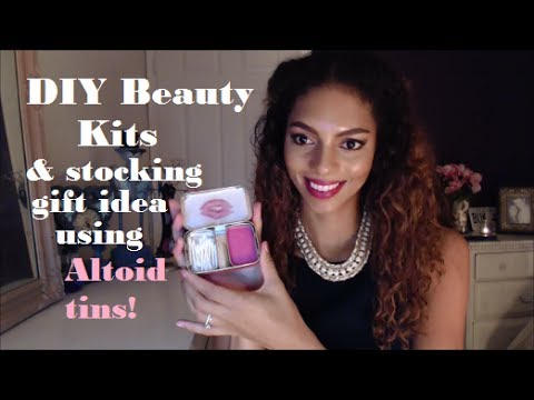 Cheap and Easy Christmas Gift Idea for Stockings DIY Beauty and Makeup Kits Using Altoid Tins