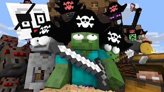 Monster School : PIRATE TREASURE HUNT CHALLENGE - Minecraft Animation