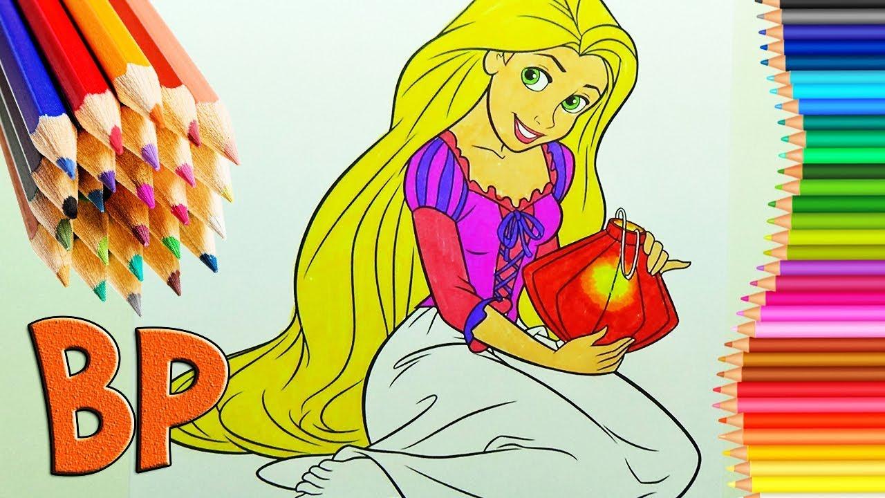 Rapunzel Coloring Book Disney Coloring Pages Rapunzel ...