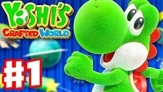 Yoshi's Crafted World - Gameplay Walkthrough Part 1 - Sunshine Station! Yarrctopus Docks!