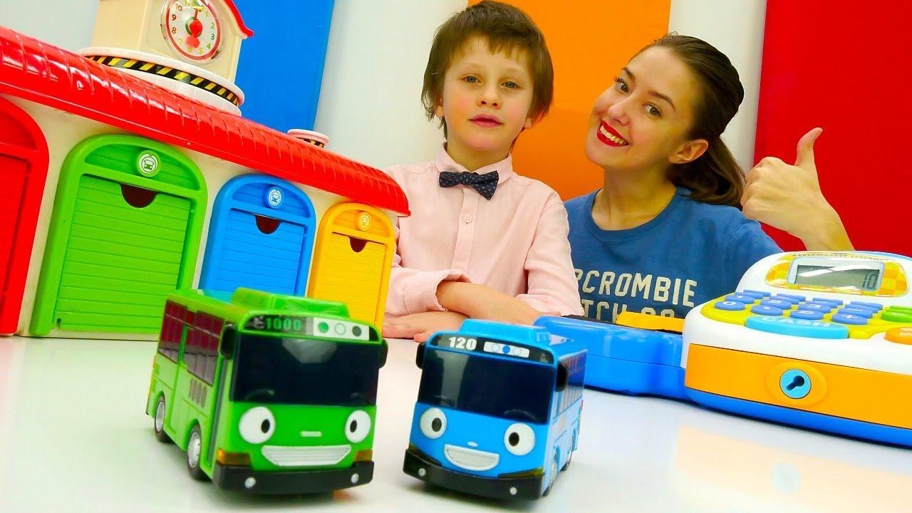 Маленький Автобус Тайо: покупаем детали для новой трассы ...