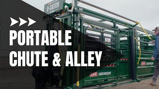 Q-Catch 86 Series Portable Cattle Chute & Alley | Cattle Handling System | Arrowquip