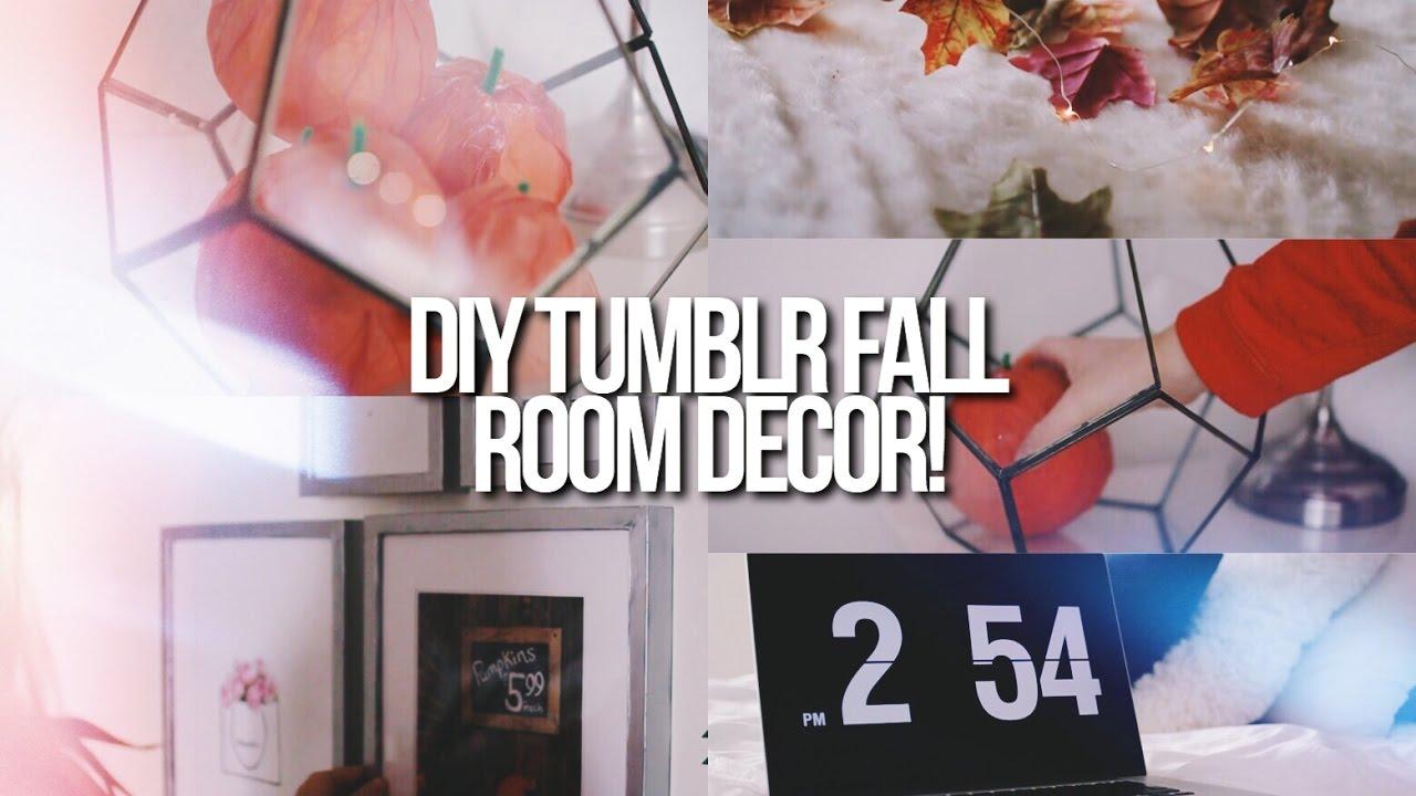 Cute Diy Home Decor Ideas: DIY CUTE + EASY FALL ROOM DECOR 2016! // Tumblr Inspired
