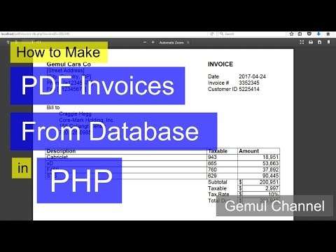 How to Make PDF Invoices From Database in PHP   PHP FPDF Tutorial