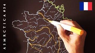 ASMR 1hr Drawing Map of France | Binaural Soft Spoken