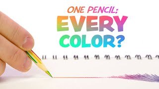 "Can I DRAW with this ""Rainbow Pencil""?..."
