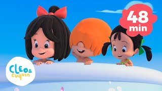 Ants go marching and more nursery rhymes of Cleo and Cuquin | Songs for kids