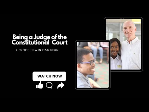 Sinako We Can Constitutional Hill and Constitutional Court Tour  Special Guest Judge Edwin Cameron