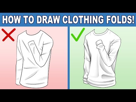How to Draw Clothing Folds! Tips to Help You Improve at Drawing Clothing Folds!