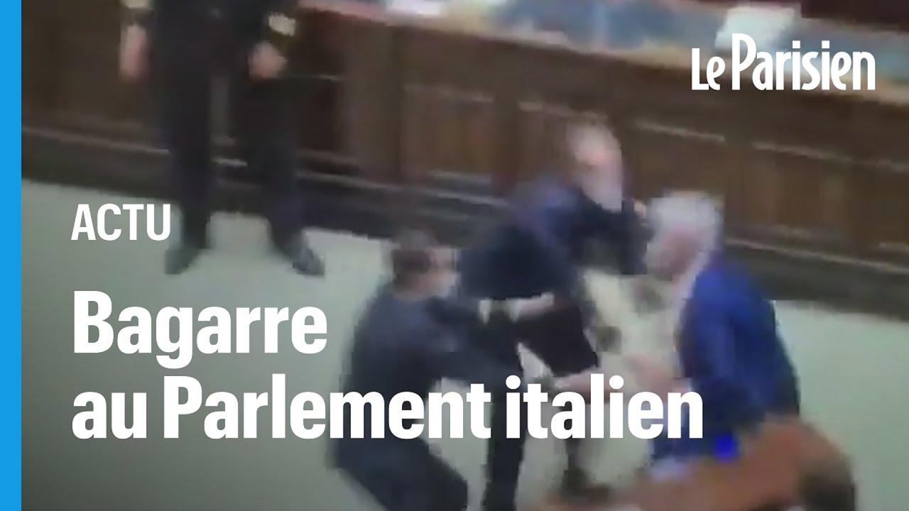 Protest gegen den Green Pass im italienischen Parlament