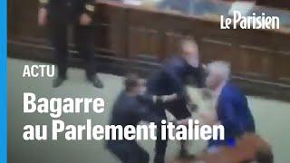 Bagarre en plein Parlement italien autour de l'application du pass sanitaire