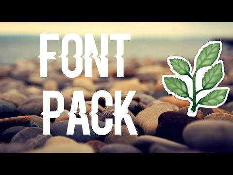 FONT PACK - fonts i use | harmony msp