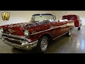 #7156 1957 Chevrolet Bel Air with trailer - Gateway Classic Cars of St. Louis