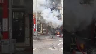 Samsun'da Yangın İşyerini Kül Etti