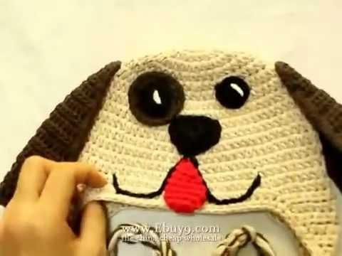 Hand-woven cute little dog ear hat - YouTube 7782f836fbd
