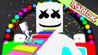 Roblox นายหัวขนมดีเจ Marshmello ยักษ์ผู้โด่งดังในวงการ EDM Roblox  Marshmello Video