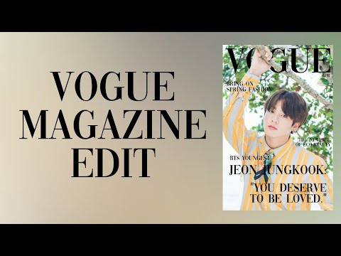 how to make vogue magazine edit (tutorial)