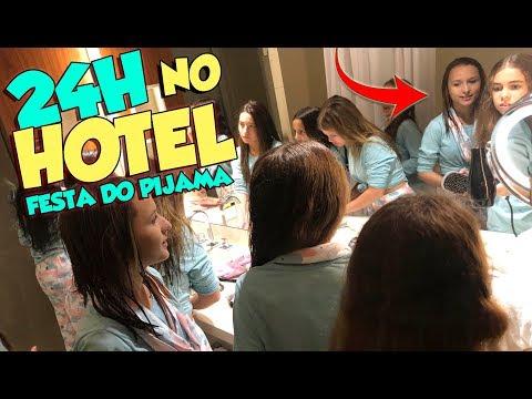 24 HORAS NO HOTEL COM MINHAS AMIGAS - FESTA DO PIJAMA DA MYRELLA VICTORIA