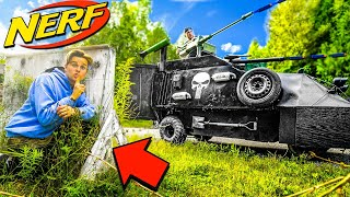 NERF HIDE AND SEEK AGAINST A NERF TANK!