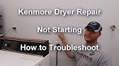 Kenmore Dryer won't start Easy Fix - YouTube on
